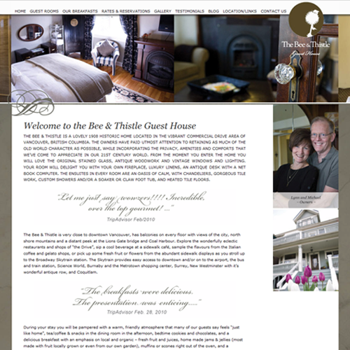Bee and Thistle B&B - Wordpress Web Design