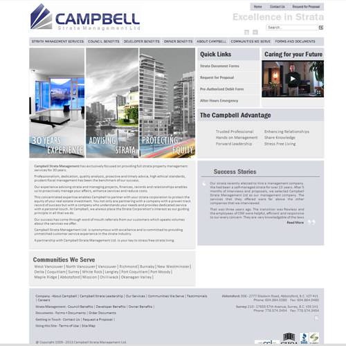 Campbell Strata Management - Joomla Website