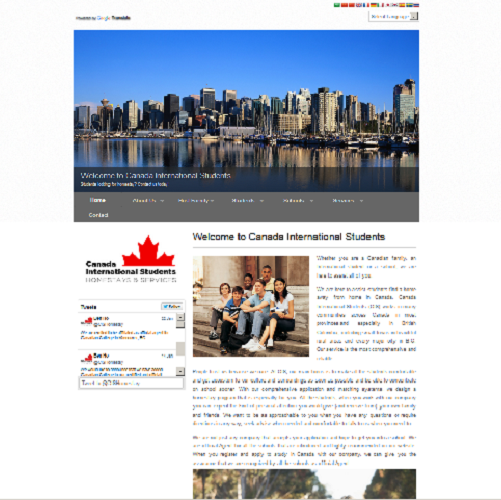 Canadian International Students - Wordpress Website