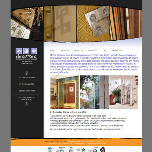Decortec Residential Elevators - Wordpress Vancouver