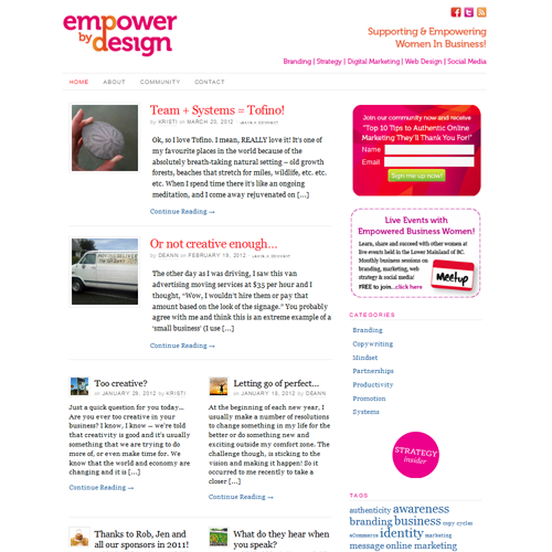 Empower By Design - Wordpress Web Design
